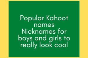 Popular Kahoot
