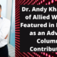 Dr. Andy Khawaja of Allied Wallet Featured in Forbes as an Advice Column Contributor