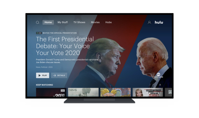 hulu-tests-its-social-viewing-feature,-watch-party,-with-election-news-live-streams